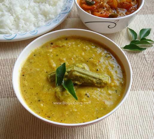 murungakkai kootu recipe, drumstick kootu recipe