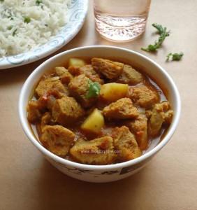Soya Chunks Potato Curry