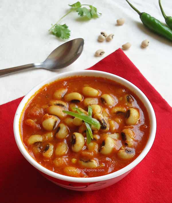Lobia Curry / Black Eyed Peas Curry - Indian Recipes - Blogexplore
