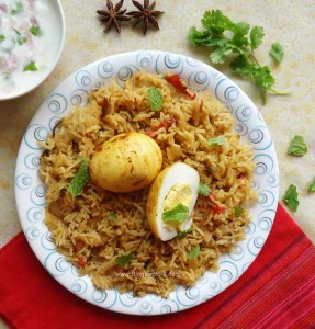 egg biryani recipe, anda biryani recipe