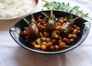 Karamani Kathirikai Varuval   Black-Eyed Peas and Brinjal Stir Fry