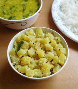 Vazhaithandu Poriyal | Banana Stem Stir Fry