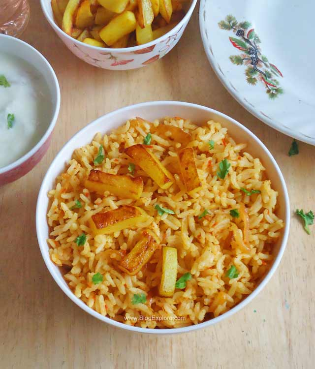 potato fried rice recipe, aloo fried rice recipe