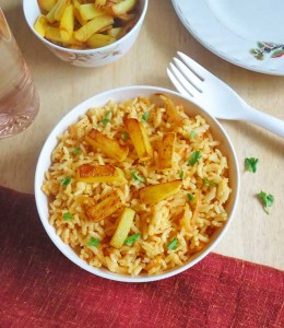 potato fried rice recipe
