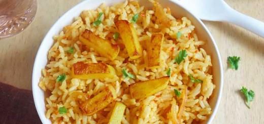 potato fried rice recipe