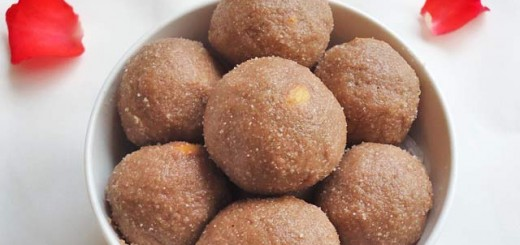 red aval laddu, red rice flakes ladoo
