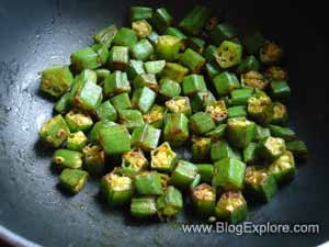 okra stir fried for dahi bhindi recipe