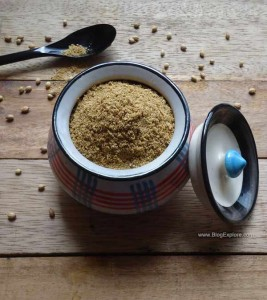 homemade coriander powder recipe, dhania powder recipe