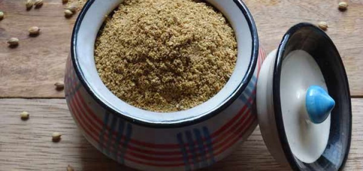 homemade coriander powder recipe, dhania powder recipe