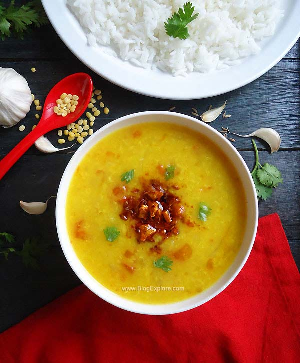 lasuni dal tadka recipe - simple and quick dal recipe with a wonderful flavor of garlic