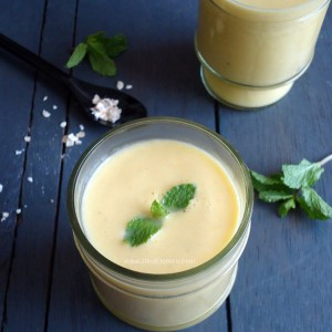 Mango Oats Lassi recipe - refreshing yogurt-based drink with goodness of mangoes and oats
