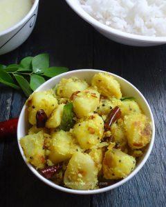 Potato Thoran Kerala Style