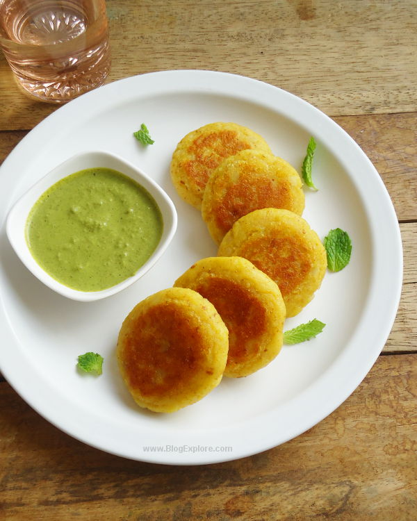 Indian Street Food Aloo Tikki Recipe: Easy Potato Tikki - Indian Recipes - Blogexplore