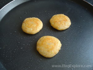 flipping over for aloo tikki recipe