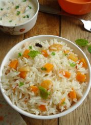 Carrot Pulao Recipe | Carrot Pulav