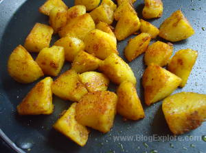 potatoes fried for tawa aloo masala