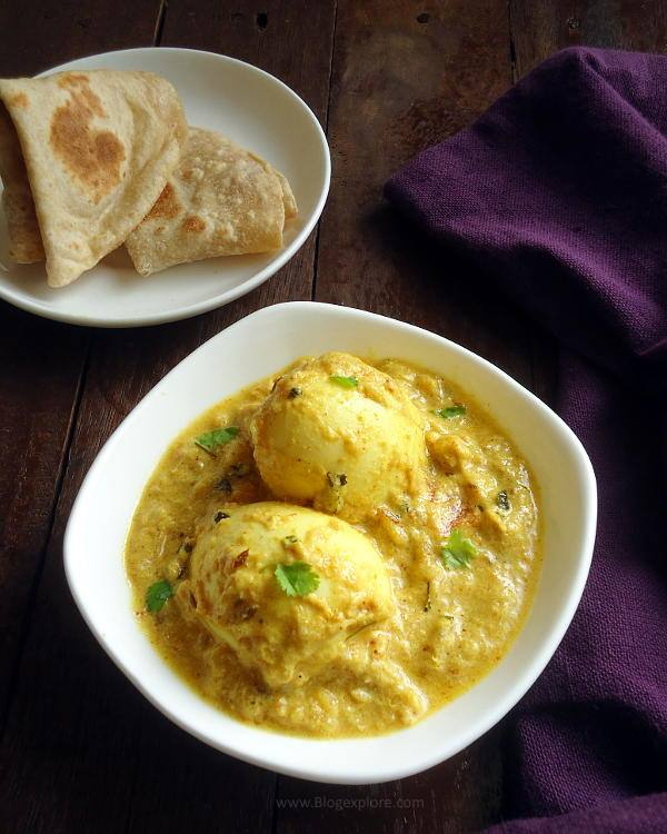 Creamy Egg Curry with Yogurt recipe