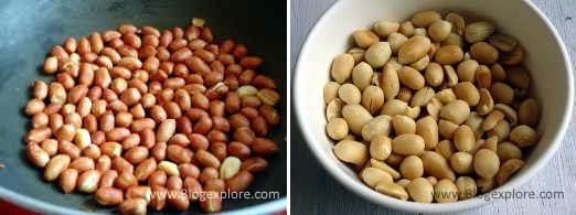 roasting peanuts for peanut ladoo recipe