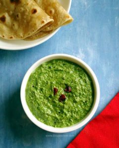 palak chutney recipe, Indian spinach chutney recipe