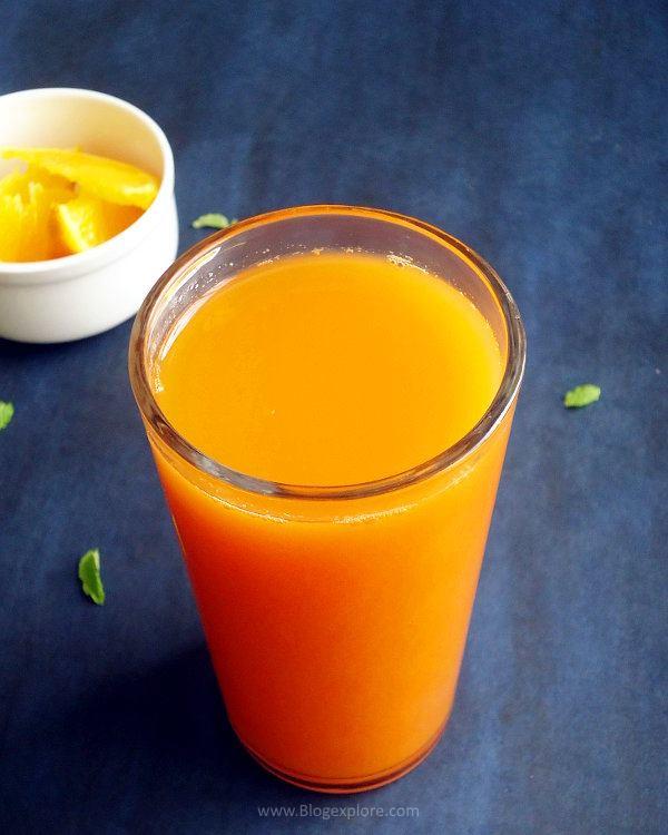 carrot orange juice recipe - healthy and delicious carrot and orange juice to boost immunity