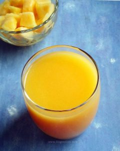 Cantaloupe Juice or Musk Melon Juice recipe - healthy and delicious fruit juice using cantaloupe.