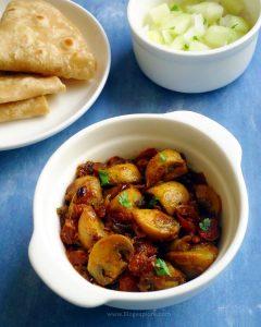 Mushroom Fry | Mushroom Stir Fry Indian Style
