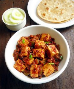 tawa paneer masala recipe - easy and delicious North Indian style paneer side dish.