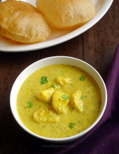Dahi Aloo   Rajasthani Aloo ki Sabzi   Potato in Yogurt Gravy