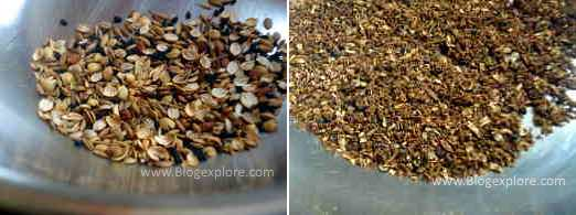 roasting spices for rajasthani dahi aloo sabzi recipe
