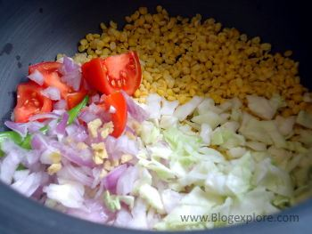ingredients for cabbage pappu recipe