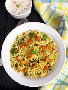 egg fried rice indian style recipe, easy egg fried rice