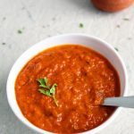 red bell pepper chutney recipe, red capsicum chutney