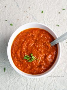 red bell pepper chutney | red capsicum chutney