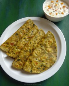 Drumstick Leaves Paratha – Murungai Keerai Paratha