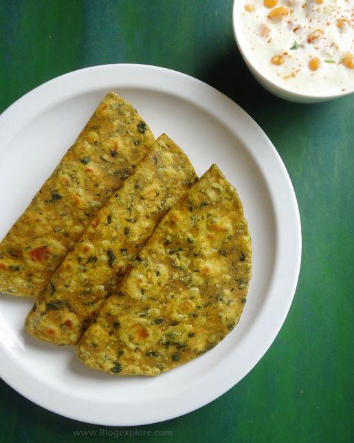 drumstick leaves paratha recipe, murungakkai leaves paratha recipe