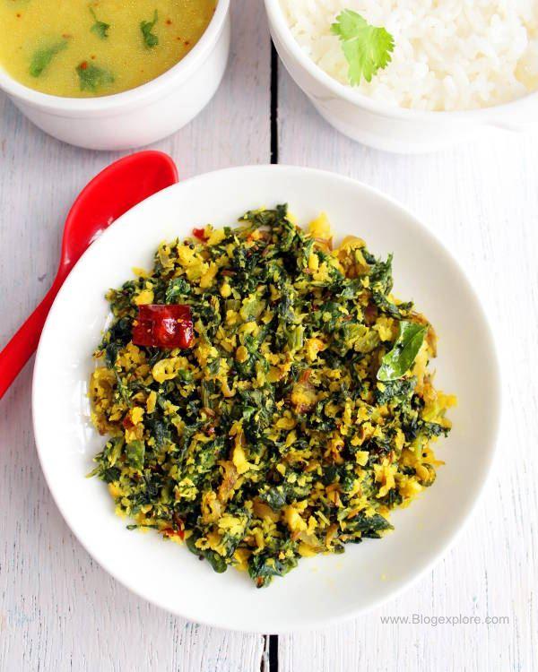 radish greens stir fry south indian style recipe, mullangi keerai poriyal recipe