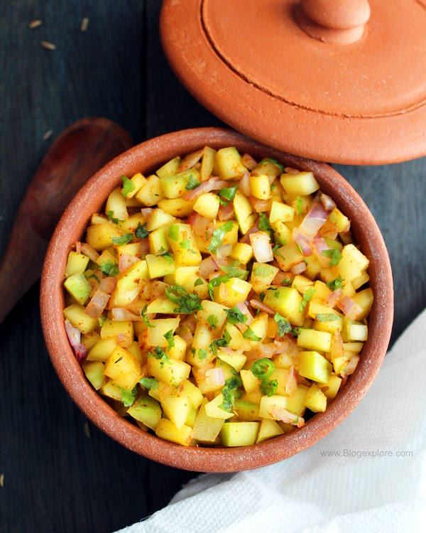 Raw Mango Kachumber Raw Mango Salad Recipe Indian Recipes Blogexplore