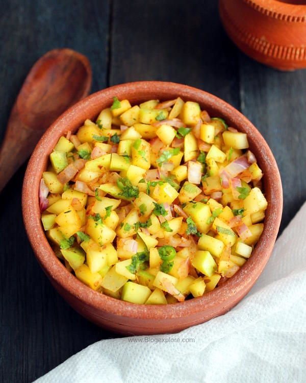 raw mango salad recipe, green mango salad recipe indian