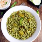 mint pulao recipe, pudina rice recipe