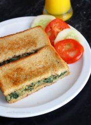 Spinach Potato Sandwich