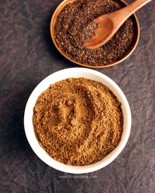 ellu podi recipe, sesame seed podi, black sesame seed powder recipe