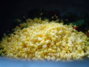 adding moong dal for spinach dal