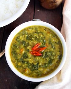easy spinach dal recipe, palak dal recipe, pressure cooker dal palak