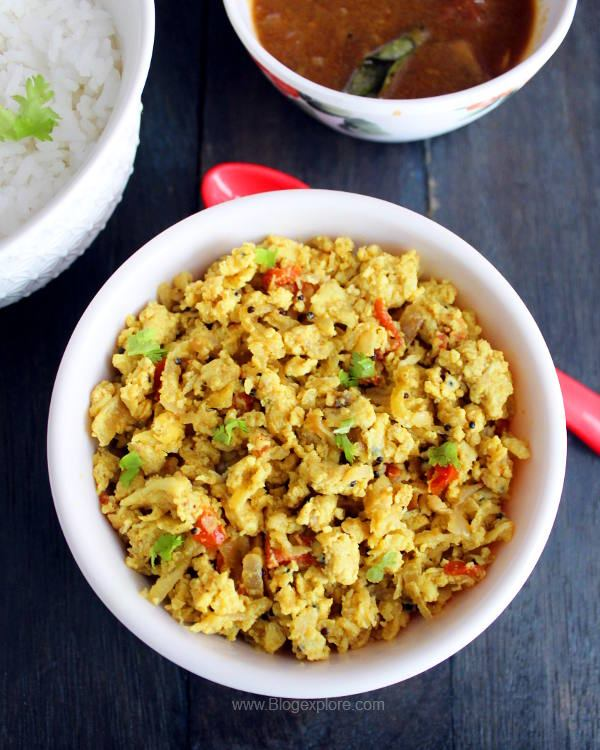 radish egg stir fry recipe, mullangi muttai poriyal, radish egg poriyal, radish egg bhurji