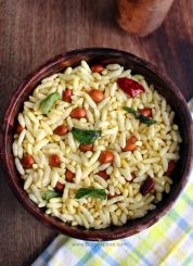 masala pori recipe, spicy puffed rice recipe, south indian kara pori