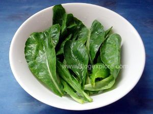 radish leaves for mooli ki sabzi