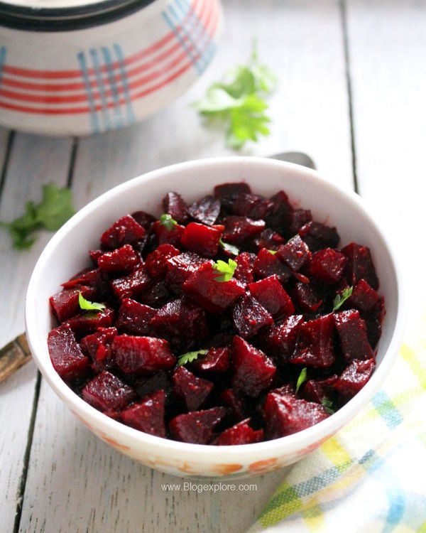 beetroot curry recipe, dry beetroot curry, chukandar sabzi