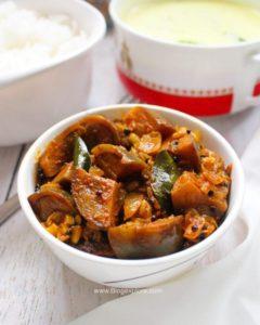 easy brinjal fry, brinjal fry recipe, kathirikai poriyal